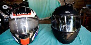 Keep motorcycle helmet from fogging up