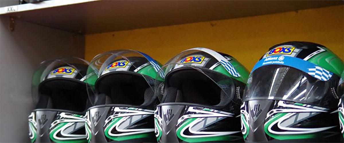 Helmet storage